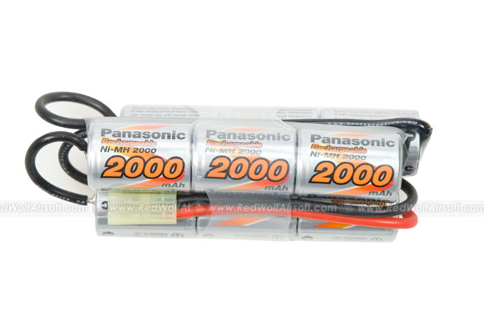 Panasonic 10.8v 2000mAh High Volt 9 Cells - Crane Stock Pack (NiMH)