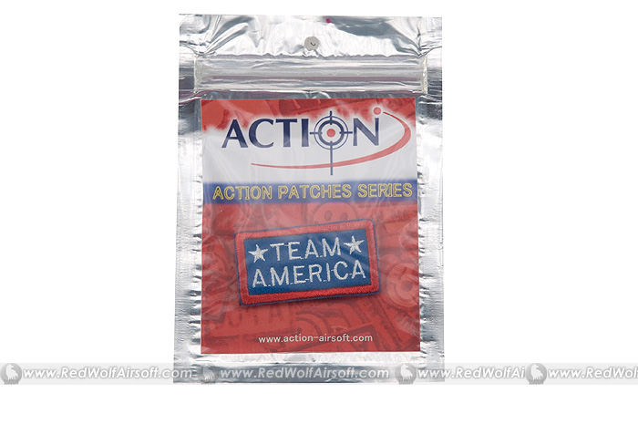 Action Team America Velcro Patch (Blue)