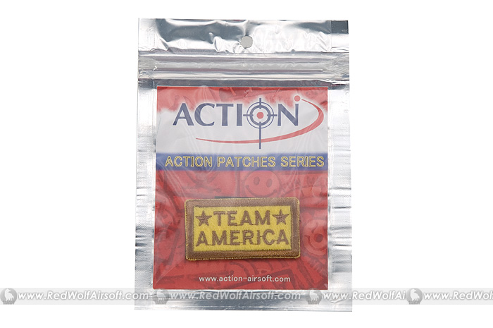Action Team America Velcro Patch (Yellow)