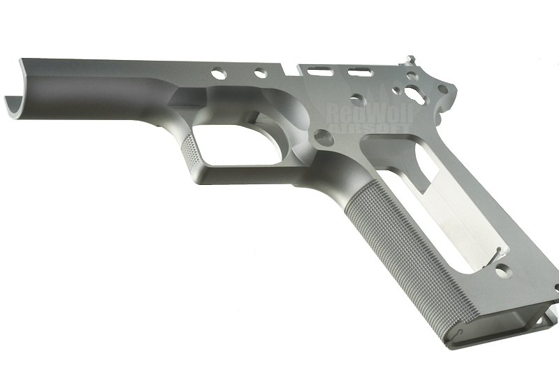 Airsoft Surgeon Limted Single Stack TM 1911 Frame (Square Trigger Guard / Silver)