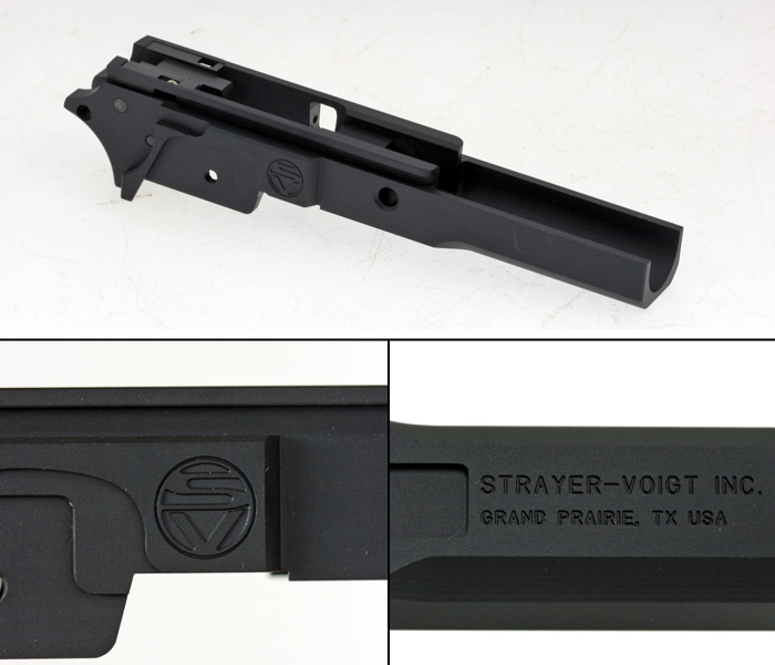 Airsoft Surgeon CNC Frame for TM Hi-Capa (Strayer Voigt Short Dustcover Black)