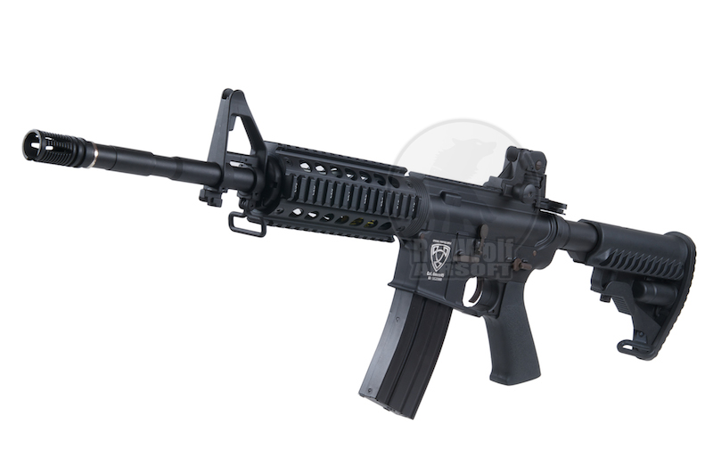 APS M4 RIS Electric Blowback - AEG<font color=red> (Holiday Blowout Sale)</font>