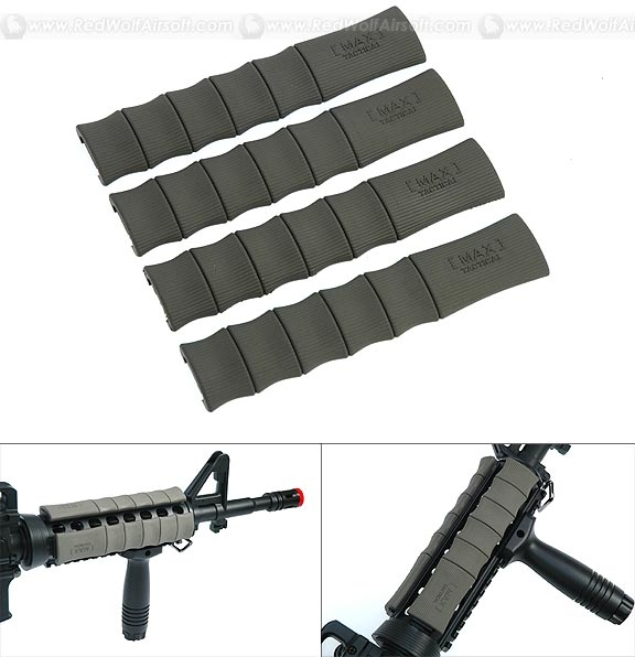 Madbull Max Tactical Rubber Bamboo Rail Cover(OD)
