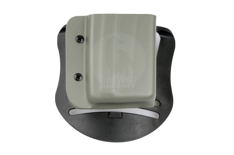 Blade-Tech Kydex Mag Pouch for AR-15 Magazines w/ Paddle (Left Hand, Foliage Green)(30043)
