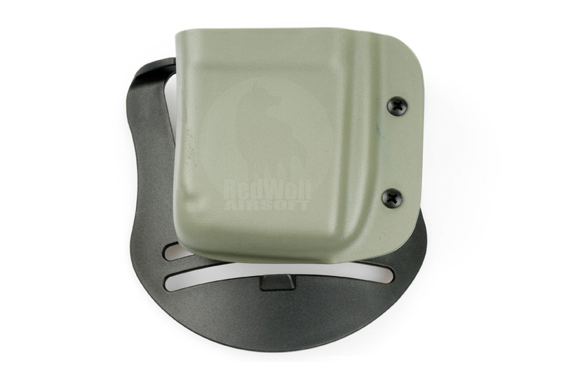Blade-Tech Kydex Mag Pouch for Magpul M4 PMAG w/ Paddle (Left Hand, Foliage Green)(30043)