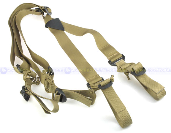 PANTAC HS Low Drag Suspenders (Khaki)