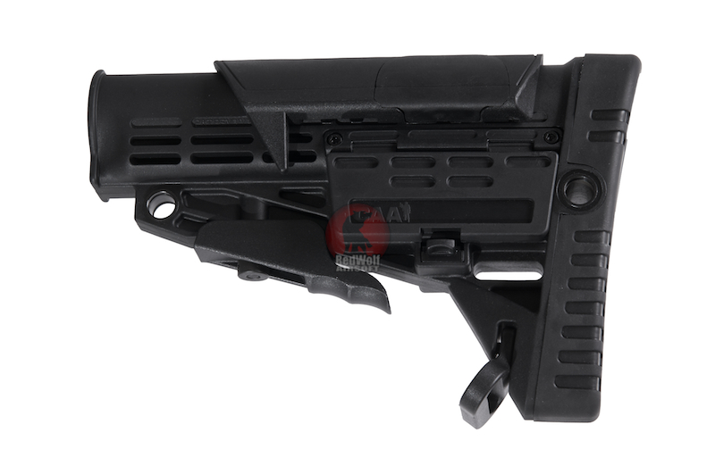 CAA Airsoft Division Collapsible Buttstock & Adjustable Cheek Rest - BK