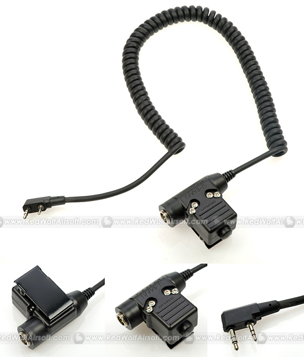 Cavalvy U94 KENWOOD Headset Wire & PTT for All Cavalvy Headsets