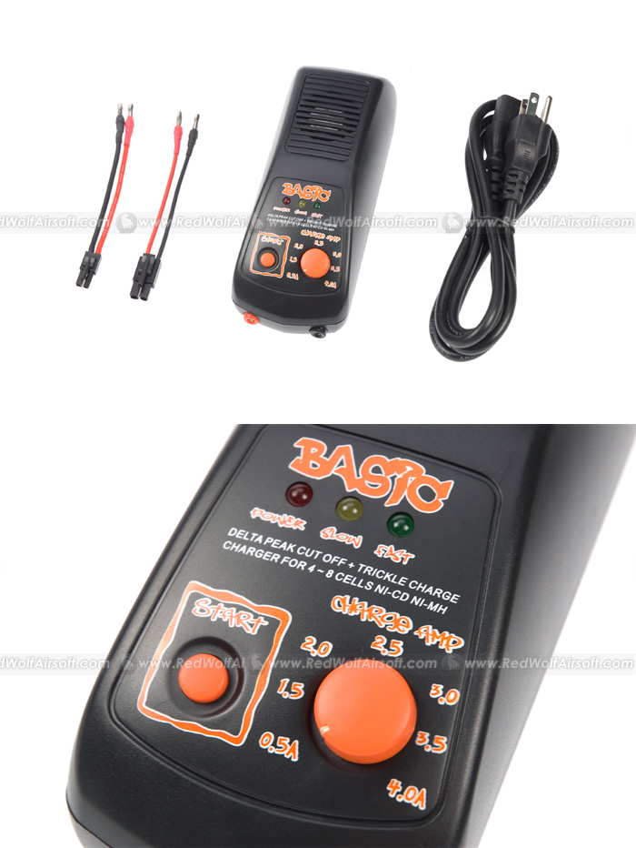 BOL Battery NiCD / NiMH Charger Basic-01 (100V - 240V) (US Plug) <font color=red>(Clearance)</font>