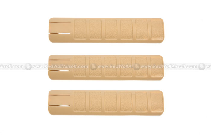 Deep Fire Rail Cover 156mm (3 pieces) (Tan) <font color=red>(Clearance)</font>