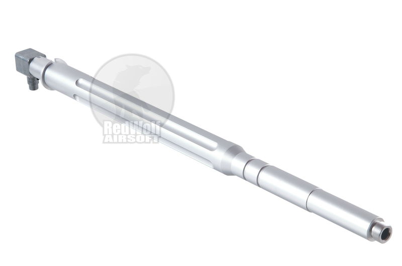 Deep Fire NEW PTW-STYLE HOP-UP Outer Barrel Front Kit for AEG URX 16 series (with 6.02mm Precision Inner Barrel) - Silver