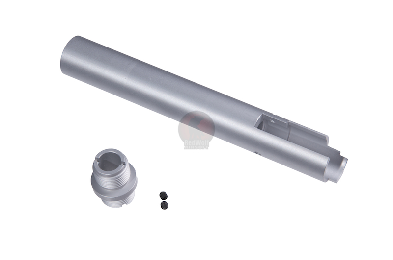 Deep Fire Outer Barrel with Thread Adaptor for Tokyo Marui Hi-Capa 5.1 - Type A (Silver)