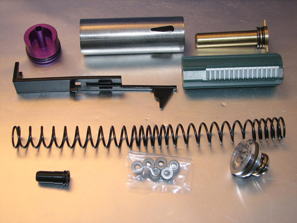 Deep Fire Full Tune Up Kit for Marui NP5K (M100 Original Cylinder / Enlarged Nozzle) (Bore Up Version)
