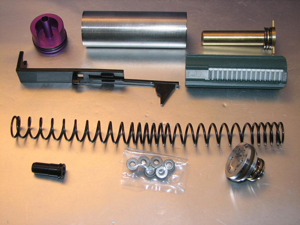 Deep Fire Full Tune Up Kit for Marui AK (M130 Original Cylinder / Enlarged Nozzle) (Bore Up Version)