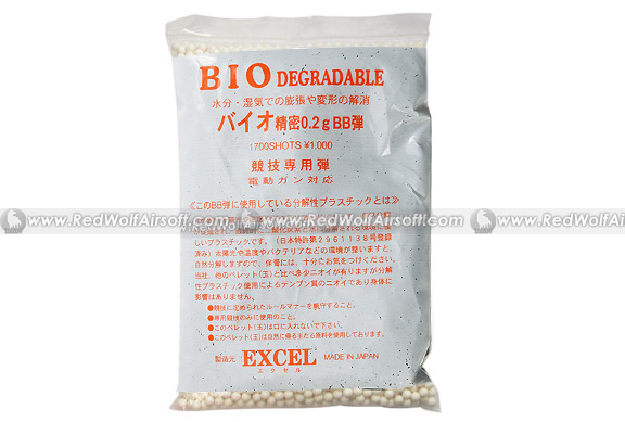 Excel Bio-Degradeable 0.2g 6mm BBs 1700 rounds