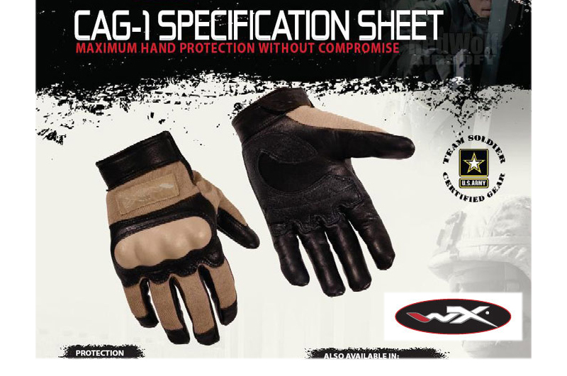 Wiley X CAG-1 Glove (Large /Coyote Brown)