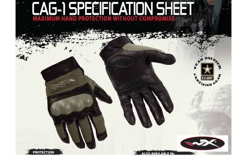 Wiley X CAG-1 Glove (Medium / Foliage Green)