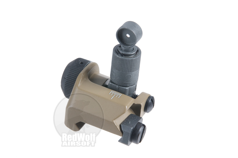 G&P Military 600m flip up rear sight (Sand)