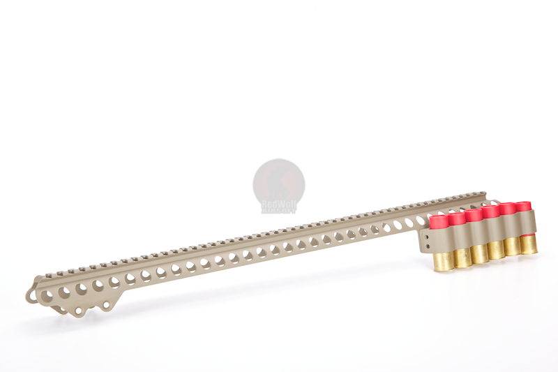 G&P Shotshell Receiver Rail Set for G&P M870 Metal Body (Long) - Sand