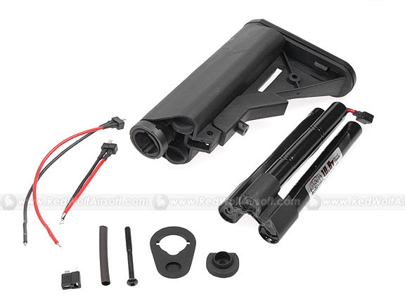 G&P M4A1 Extended Battery CRANE Buttstock with 10.8v Battery (Black)