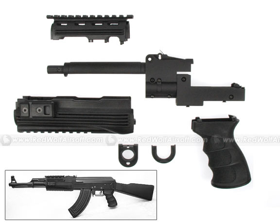 G&P Tactical Front Set with Grip for AK47 (Black)