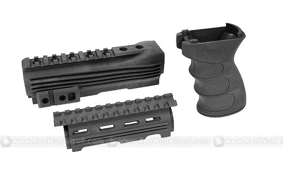 G&P Handguard & Grip for Marui AK47 Series (Black)