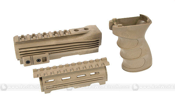 G&P Handguard & Grip for Marui AK47 Series (Sand)