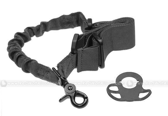 G&P CQB / R Sling Adaptor with Bunch Sling (Black) for Extended Battery Buttstock & M4 Series