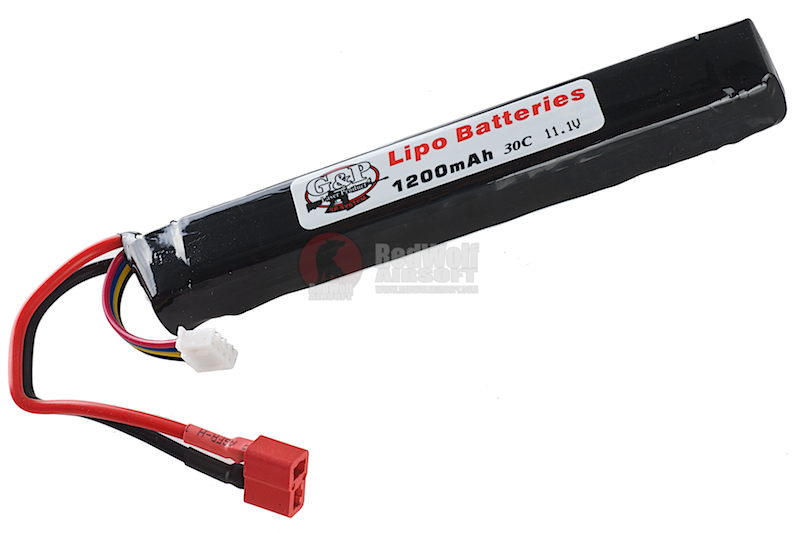 G&P 11.1v 1200mAh (20C) Li-Poly Rechargeable Battery (Big Deans / T Connector)