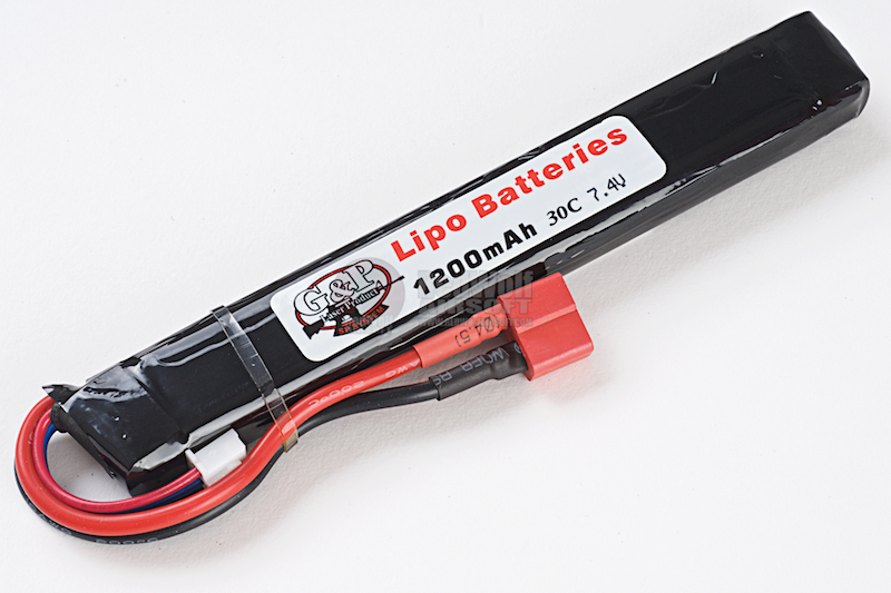 G&P 7.4v 1200mAh (20C) Lithium Polymer LiPo Rechargeable Battery (C - Deans)