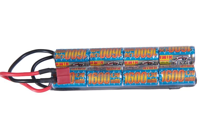 G&P 9.6v 1600mAh V-Shape Battery (Ni-MH / Deans)