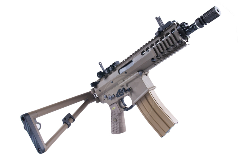 WE PDW GBB Rifle TAN (NEW Open Bolt Version,No Marking) 8 Inch Short Barrel<font color=red> (Holiday Blowout Sale)</font>