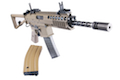WE PDW GBB Rifle TAN (NEW Open Bolt Version, No Marking) 10 Inch Long Barrel<font color=red> (Holiday Blowout Sale)</font>