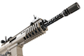 WE PDW GBB Rifle TAN (NEW Open Bolt Version, No Marking) 10 Inch Long Barrel