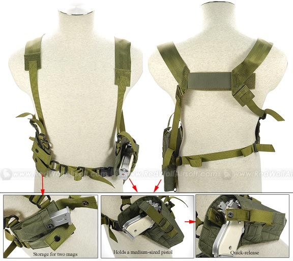 Pantac Tactical Type 1 Shoulder Holster (OD / CORDURA)