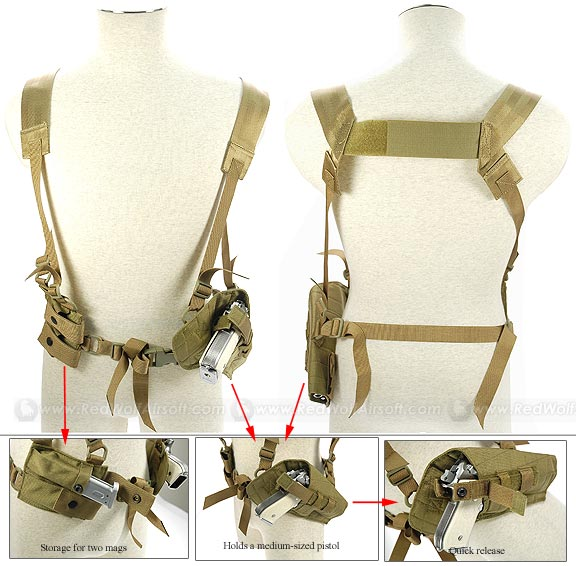 Pantac Tactical Type 1 Shoulder Holster (Khaki / CORDURA) <font color=red>(Clearance)</font>