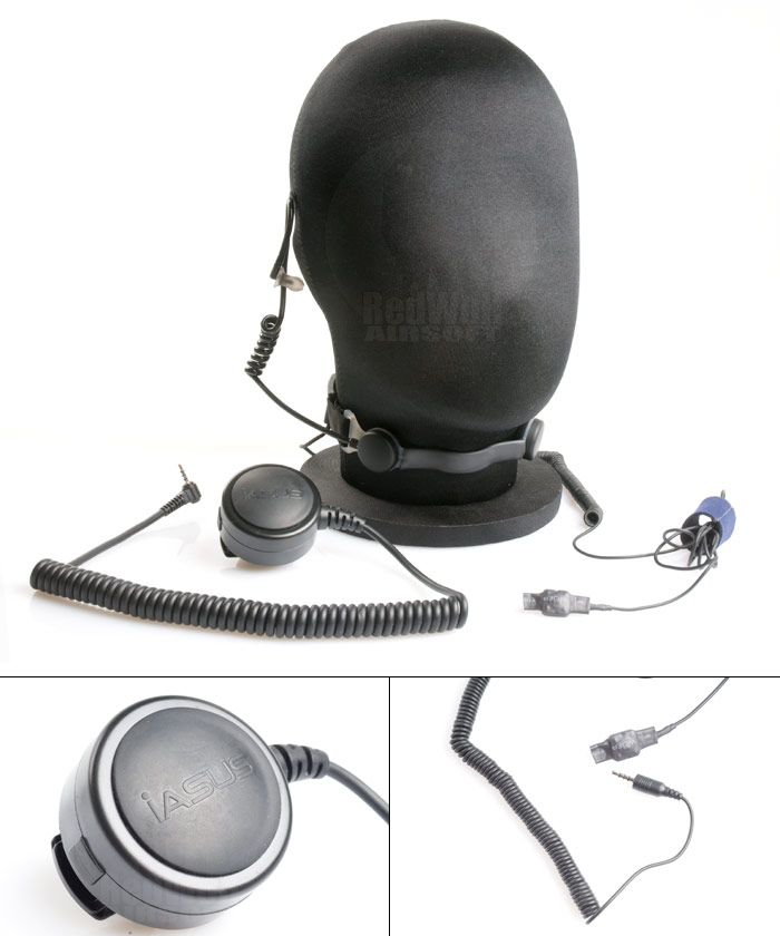 IASUS NT3 Noise Terminator Special Black Ops with SNP PTT (Throat Mic Headset)