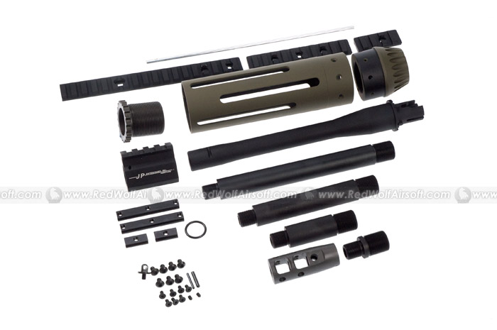 Madbull JP Rifles Carbine-Size 7inch Handguard w/ 4 Length Barrels for Marui M4 series (OD)