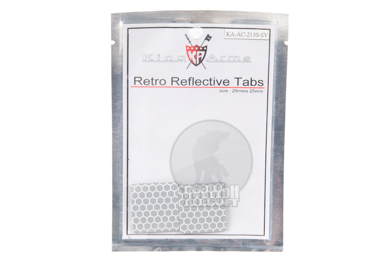 King Arms Retro Reflective Tabs for Helmet