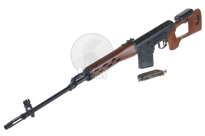 King Arms Kalashnikov Sniper Rifle Air cocking version - Wood pattern
