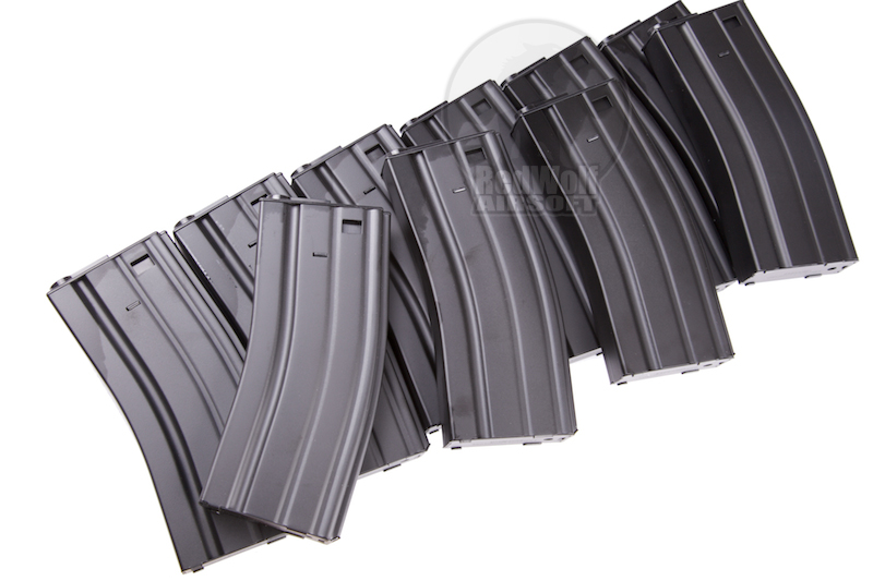 King Arms M16 120rd. Metal Box Set Magazine (10pcs)