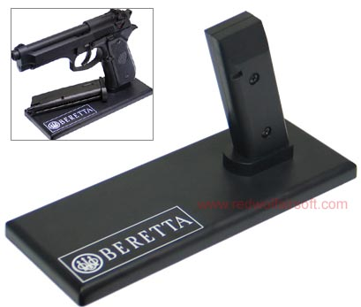 King Arms Display Stand for Pistol -92F - Black