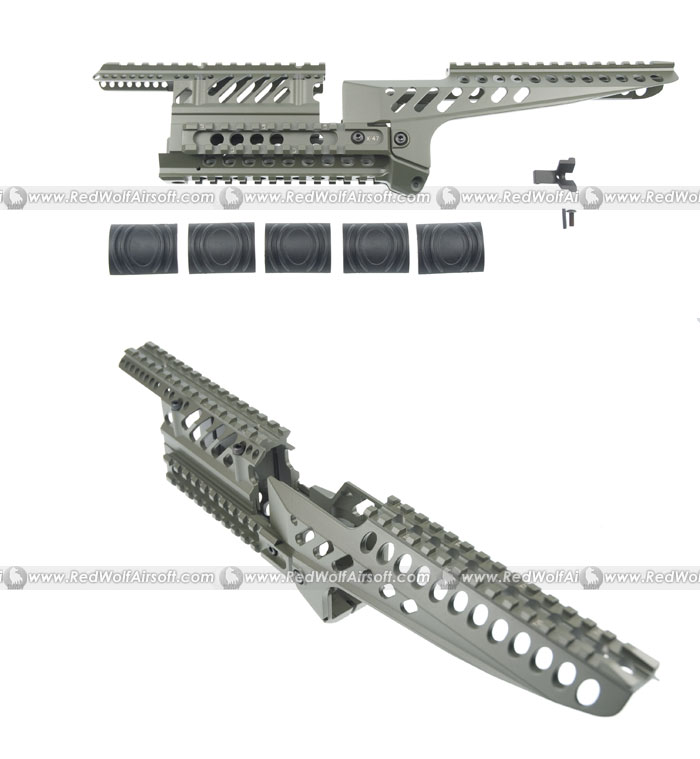 King Arms X47 5-Rails Mounting System Standard Version (OD) for Marui AK
