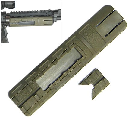 King Arms Rail Cover with remote press switch pocket - OD