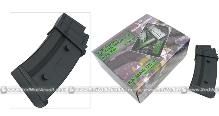 King Arms Model 36C Series 95rds Mag box set (5pcs)