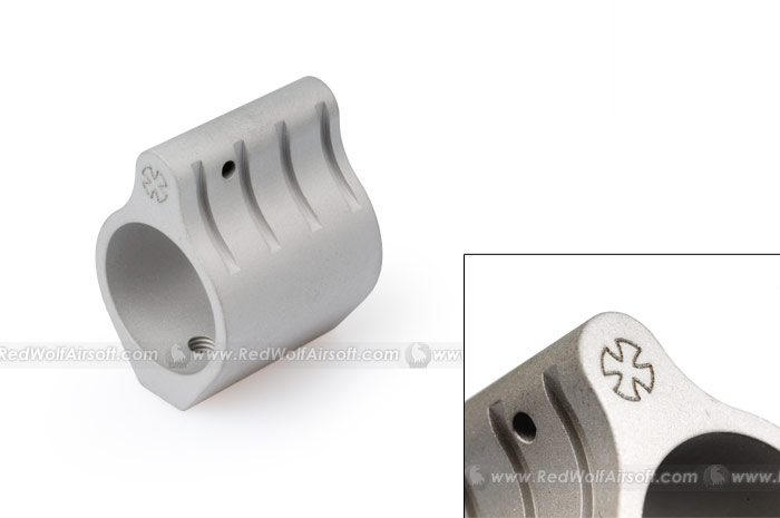 Prime Aluminum Gas Block for M4 Series. (Matte Silver)