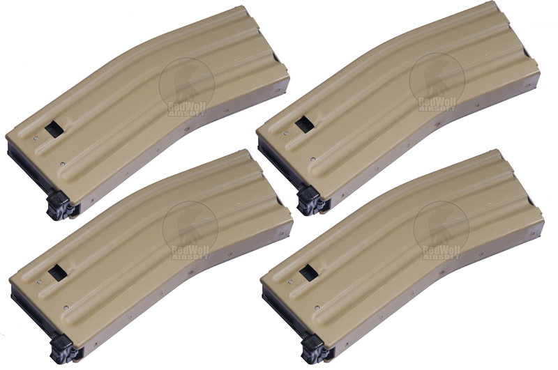 MAG 160rd Aluminium Magazine for Systema PTW M4 / M16 Series (DE) Pack of 4)