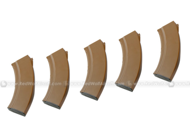 MAG AK74 100rds Mag 5 Box Set for Marui AK (Bakelite)