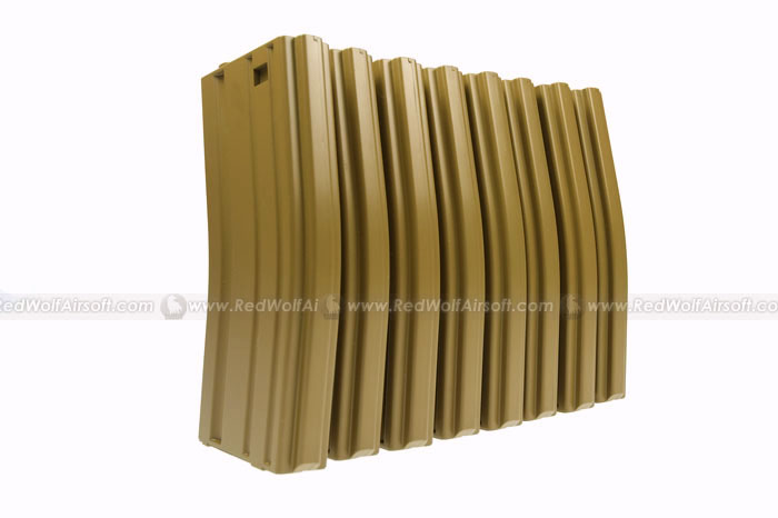 MAG M16 130rds Plastic Magazine Box Set (8 Pack) (SAND)