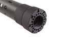 Madbull PRI licensed GIII Round 7 inch Rail w/ Extra Adjustable Rail Sections - BK (Mat. Carbon Fiber)